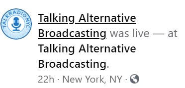 Talking Alternative Broadcasting